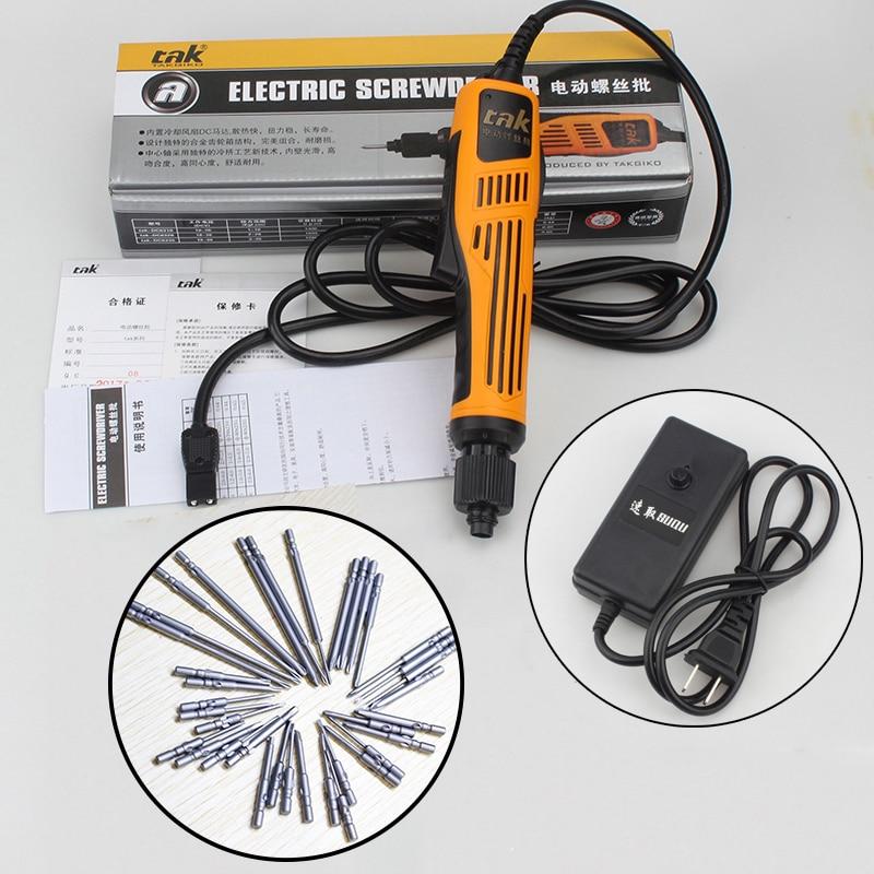 Dirll Electric Screwdriver DC6210 Handheld Tools Torque 0-10kgs Heavy Duty 110V-220V Electric Drill+36pcs Screwdriver Bit Set