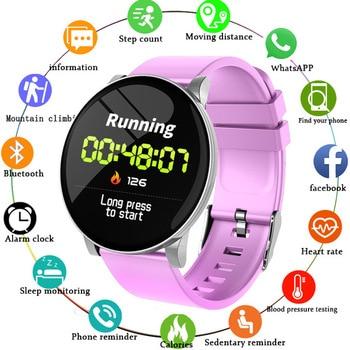 LIGE New Smart Watch Women Health IP67 Waterproof Fitness Tracker Heart rate blood Pressure Monitor Pedometer Sport