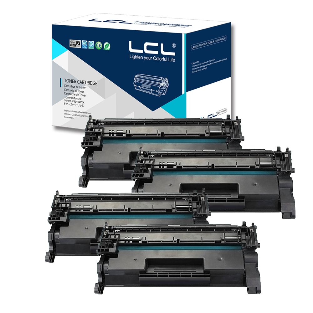 LCL CF226X 26X CF 226 X CF226 226X  (4-pack) Laser Toner Cartridge Compatible for HP LaserJet Pro M402n/M402d/M402/426/M426/M426
