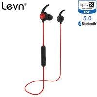 Levn Bluetooth 5.0 Earphone Aptx HD Sport Earphone CSR8675 Wireless Stereo In Ear IPX4 Waterproof Ear Buds 90mAh Big Battery Mic