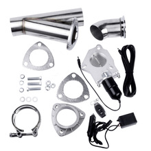 все цены на 2.25 Inch Stainless Steel Headers Y Pipe Electric Exhaust Cutout Kit With Remote Control Exhaust Cut Out Catback Down Pipe Kit онлайн