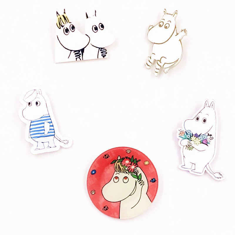 1Pcs Moomin Brooches for Women Kids Lapel Pin Backpack Clothes Decoration Badges Party And Birthday Present
