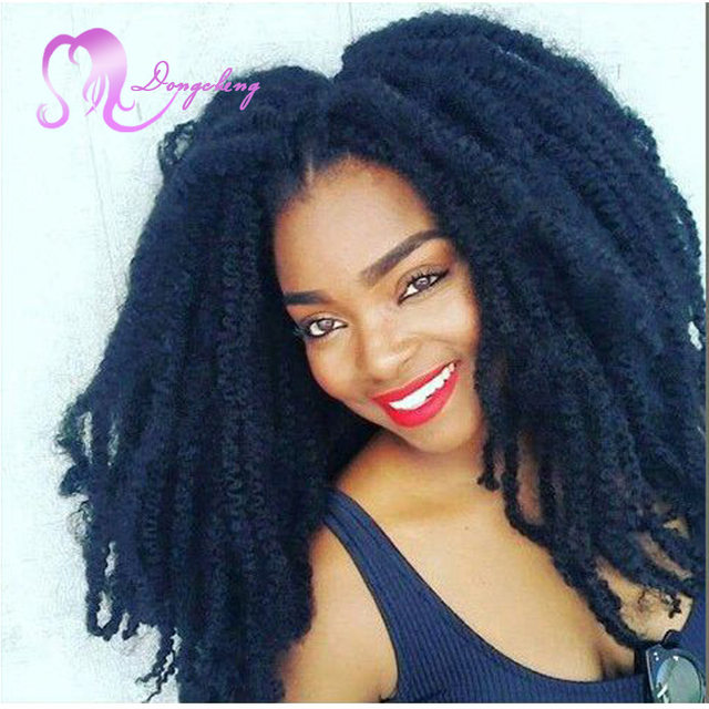 "Afro Kinky marley hair crochet box braids Hair 18"" Crochet ..."
