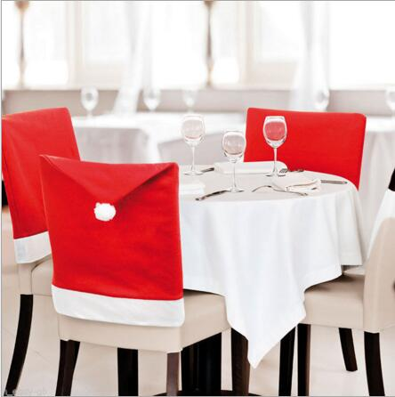 3pcs/lot Christmas party accessories Chair cover for house or Restaurant or bar Christma ...