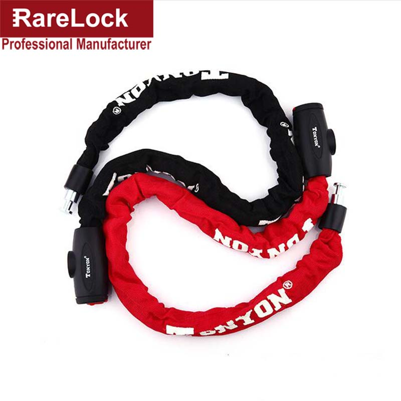 Rarelock ZS38 Chain Lock for Home Gate Bicycle Motorcycle Car Skateboard Truck Barn Anti-theft Cycling Padlock DIY a trelock bicycle cable lock bike steel locks biking bicycle lock anti theft security level 3 cycling locks bicycle accessories
