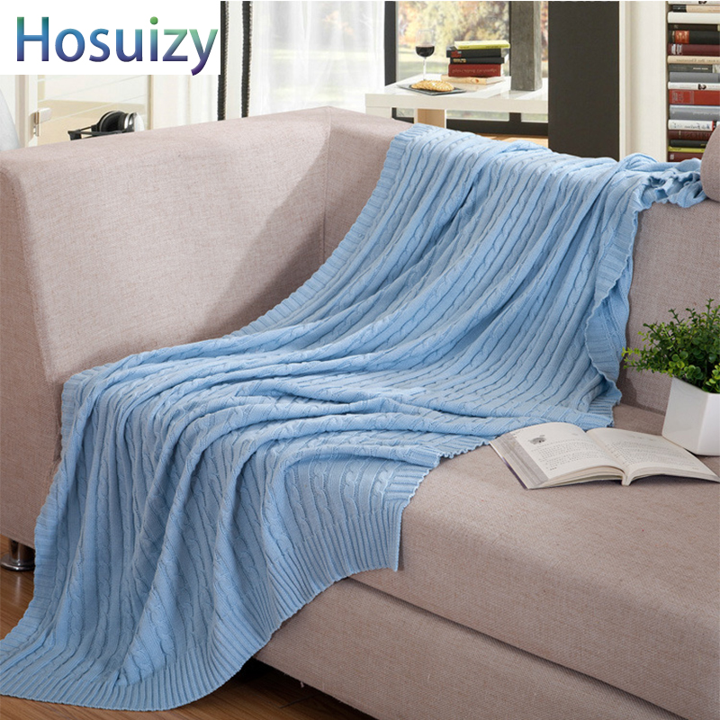 Bedding Throw Idouillet Lightweight Reversible Two-tone 100% Cotton Knit Throw Blanket For Bed Sofa Couch Decorative Outdoor Beach 120x160cm