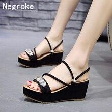 купить New Women Sandals 2019 Platform Sandals Wedges Shoes For Women Heels Summer Shoes Woman Wedge Heels Sequin Sandalias Mujer онлайн