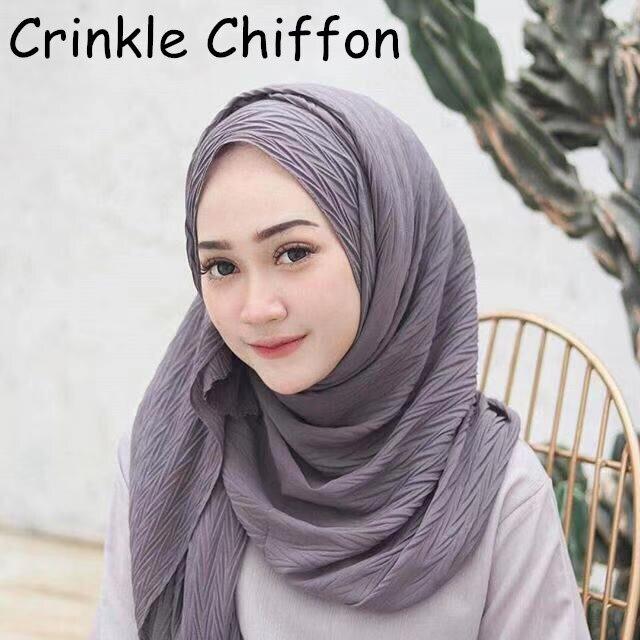 M18 High quality crinkle bubble chiffon hijab wrap shawls scarf scarves headband 180 85cm 10pcs lot