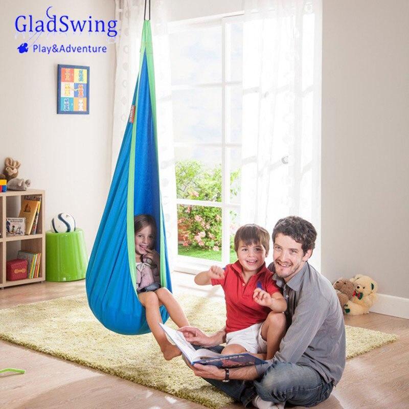 Gladswing Niños Pod Columpio Silla Inflable Nook Nido Colgando Asiento Kids Cubierta Hamaca Acampar Al Aire Libre-45
