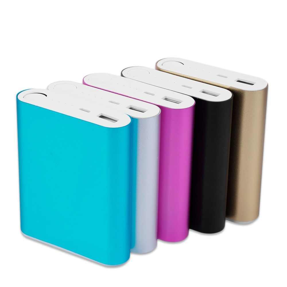10400mAh لتقوم بها بنفسك قوة البنك 4*18650 صندوق بطارية حقيبة أدوات العالمي USB بطارية احتياطية خارجية شاحن باوربانك لجميع هواتف محمولة