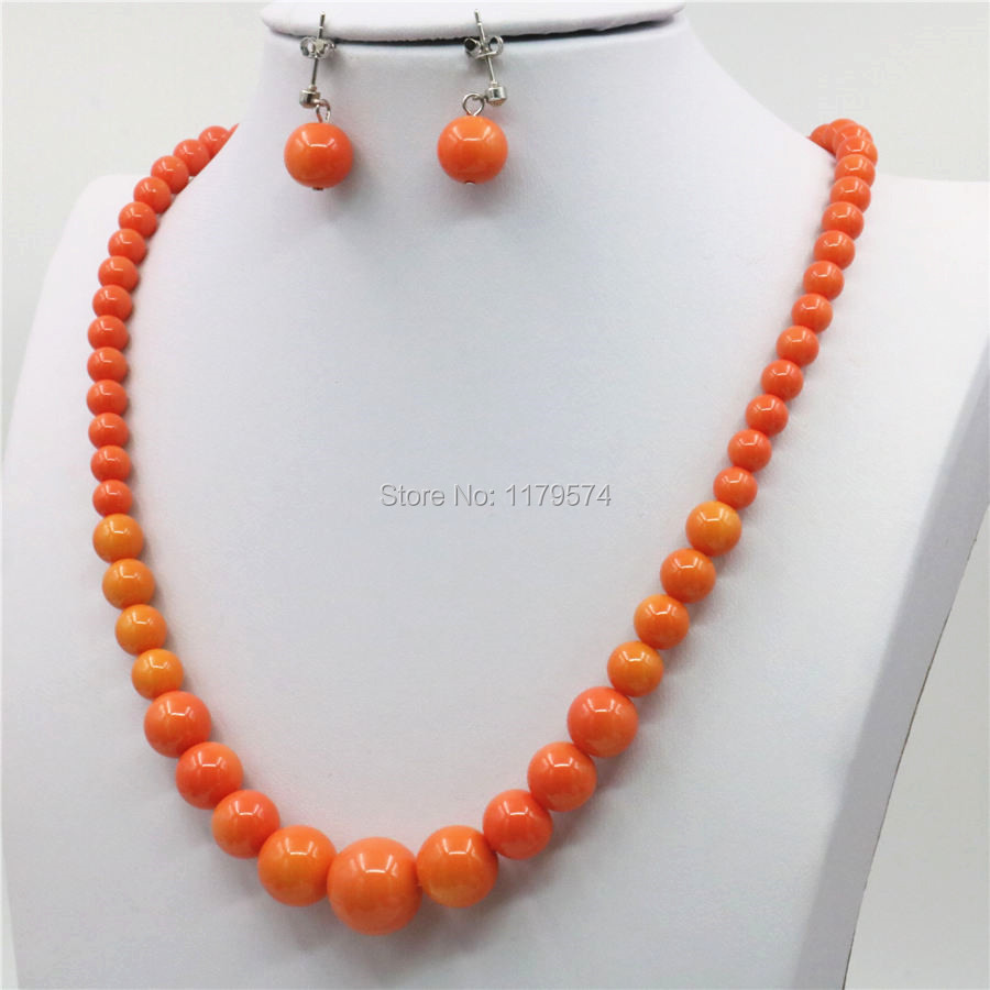 10 mm Navy Blue Sea Shell collier de perles AAA Belle
