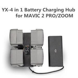 4 In 1 Mavic 2 Battery Charger Hub Smart Multi Battery Intelligent Charging Hub Digit LED Screen for DJI Mavic 2 Pro/Zoom Access(China)