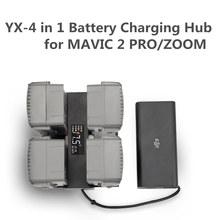 4 In 1 Mavic 2 แบตเตอรี่ Charger Hub Smart Multi แบตเตอรี่อัจฉริยะชาร์จ Hub หลักหน้าจอ LED สำหรับ DJI Mavic 2 Pro/ซูมเข้าถึง