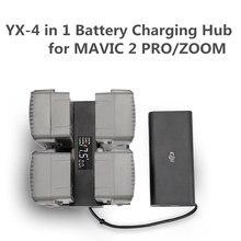 Cargador de batería Mavic 2 4 en 1, concentrador de Carga inteligente con varias baterías, pantalla LED de dígitos para DJI Mavic 2 Pro/Zoom Access