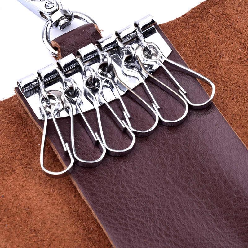 Klsyanyo prawdziwej skóry mężczyzn etui na klucze mężczyźni brelok organizer do kluczy dla gospodarza damskie etui na breloki torba etui