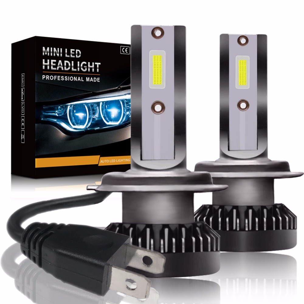 Neue 2 stücke H7 LED mini Auto scheinwerfer Lampen H1 LED H7 H8 H11 Scheinwerfer Kit 9005 HB3 9006 HB4 auto 12-24 v LED DRL Lampen 60 watt 8000LM