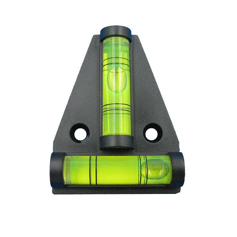 (1 piece/lot) T type spirit level measurement instrument Triangular Plastic level indicator Shell Black Red Orange