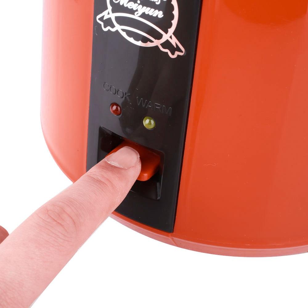 Portable 1.2L Mini Rice Cooker Heating Lunch Box Electronic Cauldron Rice Steamer Dumplings Household Home Appliances
