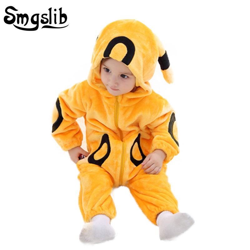 Baby boy winter clothes Coral Fleece warm girls clothing Animal tiger baby costume Overall baby rompers Infant Jumpsuits