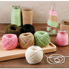 100 m Rolo de Linho Natural Juta Guita Cordas Cord Hemp Rope Embalagem Do Presente Fontes Do Partido Do Evento do casamento home Decor DIY artesanato L * 5(China)