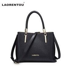 Laorentou fashion frauen rindsleder handtasche kapazität top-qualität crossbody umhängetasche für frauen luxus lady tasche n5
