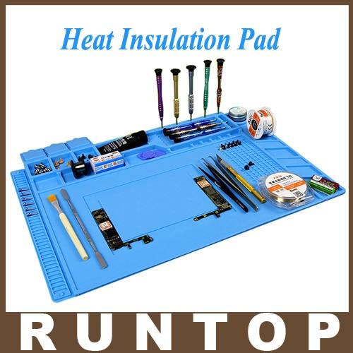 Heat Resistant Soldering Mat Silicone Heat Gun BGA Soldering Station Insulation Pad Repair Tools Maintenance Platform
