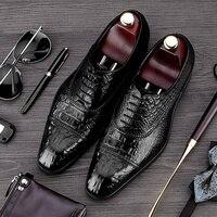 MYCORON/мужские ботинки, удобные, роскошные, дизайнерские, на шнуровке, из воловьей кожи, из крокодиловой кожи, роскошные свадебные туфли, Calzado