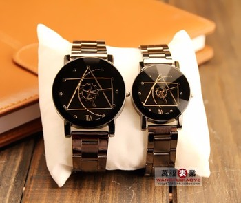 Relojes 2018  High quality Casual Geneva Silver Stainless steel Lovers Quartz Watch  Fashion Design Unique Lovers Watch Promotio chasy hot sale fashion geneva men women silver stainless steel casual quartz watch black white dial lovers sport watch relogios
