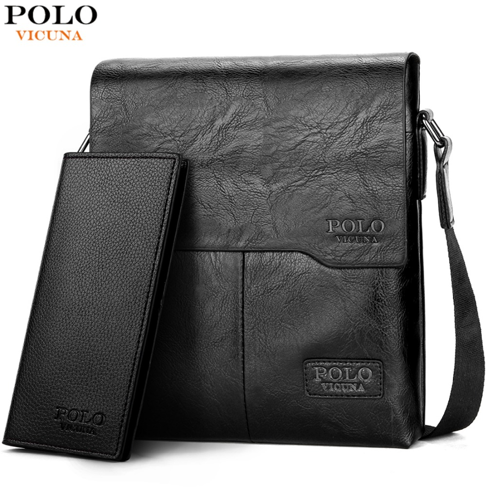 VICUNA POLO Men Shoulder Bag Classic Brand Men Bag Vintage Style Casual Men  Messenger Bags Promotion c6d236d29c