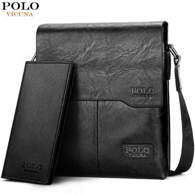 VICUNA POLO Men Shoulder Bag Classic Brand Men Bag Vintage Style Casual Men  Messenger Bags Promotion 2256c728a8ec8