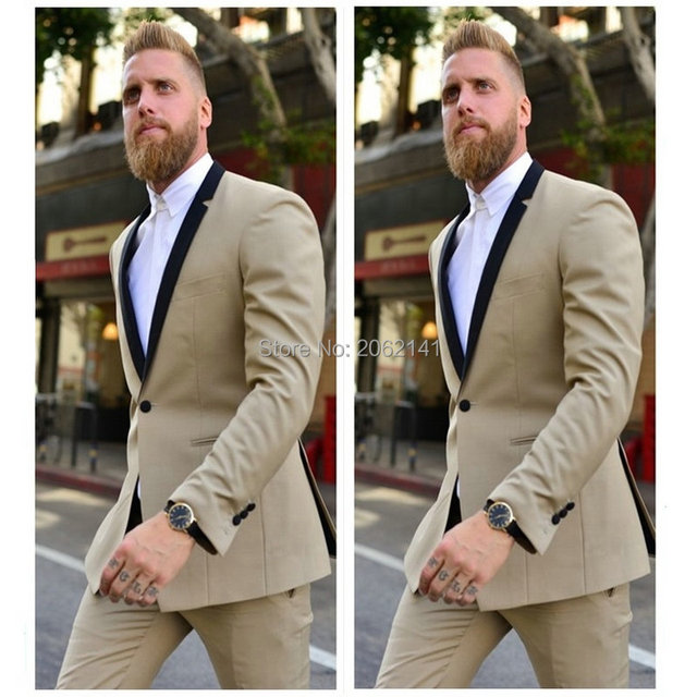 High Quality Men\'s Suits 2Pieces(Jacket+Pants) Cool Boy Cream ...