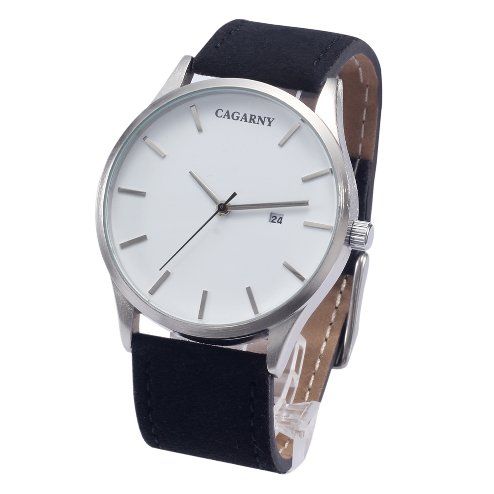 Luxury Brand Cagarny Quartz Watches Men Watch Japan Movt Date Fashion Wristwatches Leather Watchband Analog Man Clock Hours New cagarny 6819 men quartz watch japan movt date round dial leather band