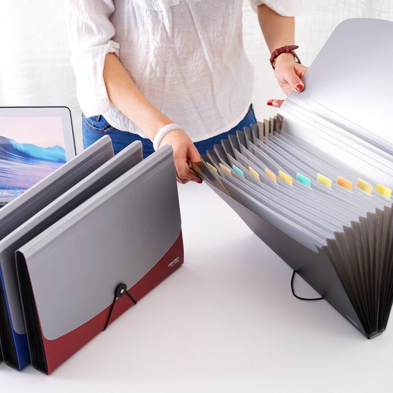 Students Use Folder Insertion A4 File Collection Box Paper Collection Bag Organ Bag Large Volume File Bag  File Folder File Pack