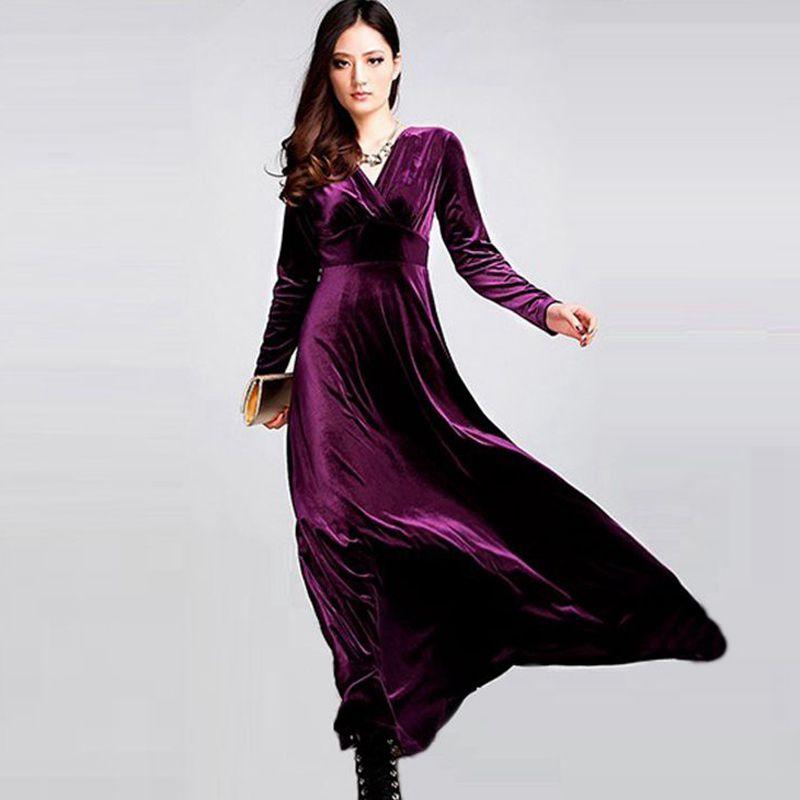 Long Dress Plus Size S 3xl Women Winter Dresses Long