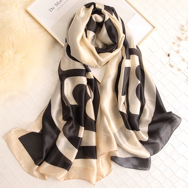 New Fashion Women 100% Pure Silk Feeling Scarf Female Luxury Brand Print Paisley Foulard Shawls And Scaves Beach Cover-Ups
