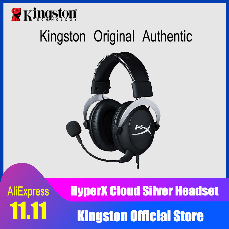 Kingston Gaming Headset HyperX Cloud Core Headphones With a microphone Hi-Fi Auriculares For PC PS4 Xbox Mobile devices 914 5 cool hi fi wired headset w microphone for xbox360 black 110cm