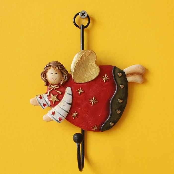 4PCS Angelo Ganci Mestieri Della Resina di stile Dell'europa di Rivestimento di Resina Gancio del Gancio Del Pendente Grasso Angelo Decorazione Della Casa Regali Di Natale In Miniatura