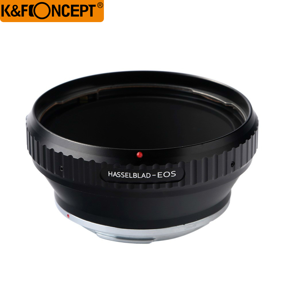 Adaptateur d'objectif K & F CONCEPT pour objectif de caméra Hasselblad vers Canon EOS mount 40D/50D/350D/400D/450D/500D/XTi/XS/XSi/5D/5D Mark II
