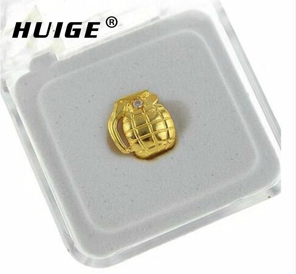 New Custom Fit Gold Color Hip Hop Single Grenade ToothGrillz Cap