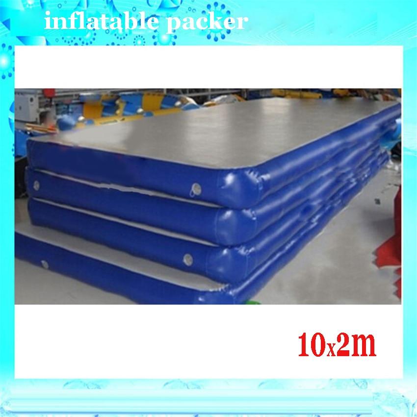 1 PC 10 * 2m oppustelig gymnastikluftbane, oppustelig luftbanegymnastik med blæser