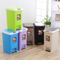 Creative Foot Pedal Poubelle De Cuisine Home Kitchen Trash Can Pressing Cover Type Waste Bins Toilet Trash Office Paper Basket
