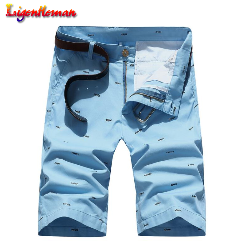Brand Men Shorts Summer Fashion Solid Color Casual Male Pocket Shorts Bermuda Masculina Knee Length Plus Size 28-40 Straight