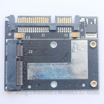 Card Slot 52 Pin 50mm Mini PCI-E MSATA SSD HardDisk Converter To 2.5