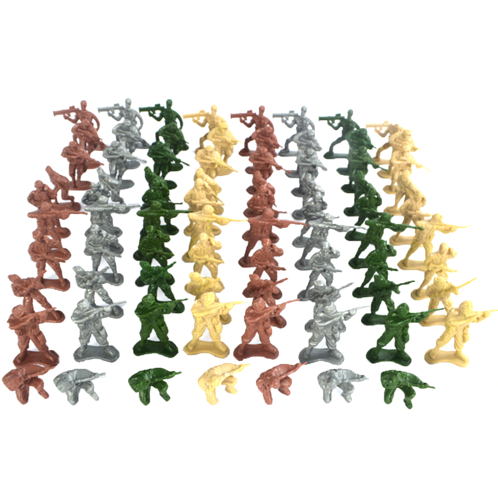 Action-Figures Playset Army-Base Model-Accessories Soldier for Sand-Scene Kids Toy Gift