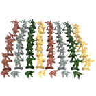 100 Pieces Army Men 5cm Soldier Action Figures Playset for Army Base Sand Scene Model Accessories Kids Toy Gift