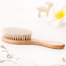 Pure Natural Wool Hair Comb Hair Scalp Massage Comb Hair Brush High-End Hair Dressing Portable Travel Detang Brush