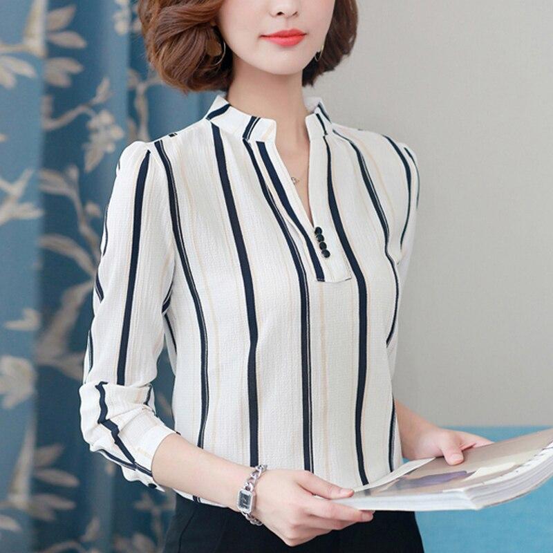 ed7a547e696a2c Women Chiffon Blouse Shirt 2019 Female Clothing Long Sleeve Blusas ...
