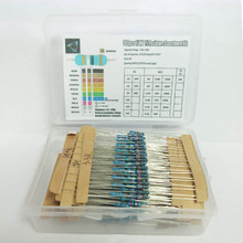 Total 300pcs 1% 1W Metal Film Resistor Assorted Kit 30Values*10pcs=300pcs (10 Ohm ~1M Ohm) Free Shippping цены