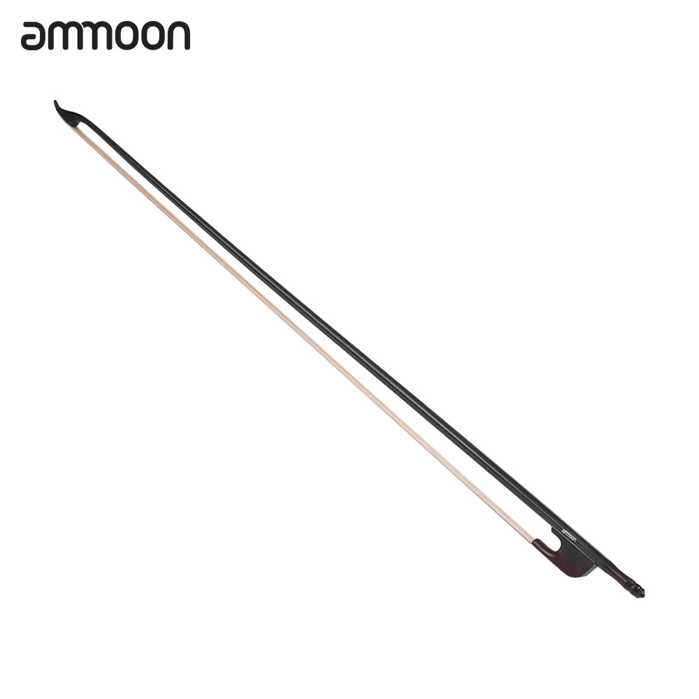 Hot Sale ammoon Baroque Style 4 4 Violin Fiddle Bow Carbon Fiber Round Stick Snakewood Frog