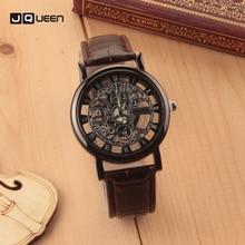 Classic Men Women Watch Fine Gold Silver Double-sided Hollow Metal Simple Imitation Mechanical Bracelet Dial Wristwatch
